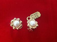 Clip - On 9 Carat Yellow Gold Fine Earrings