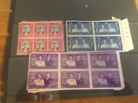 South Africa early assortment of mnh blocks of 6, super sorter