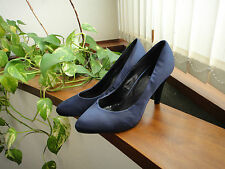Zapatos de raso azul noche Pimkie // Pimkie midnight blue satin shoes