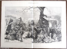 "Wood Engraving of the Great Chicago Fire: ""A Sketch in the Camp of Refugee"" 1871"