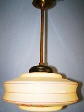 Antique Hanging Lamp,1930s 1940's Years Lamp,Floral decoration Art Deco