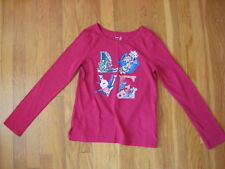 Gap Kids red LOVE SHIRT blue green T Valentines Day holiday Christmas L 10 11