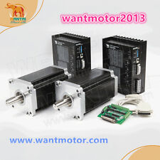 Free to USA!Wantai 2Axis Nema 42 Stepper Motor 3256oz 6A& Driver CNC EngraveMill