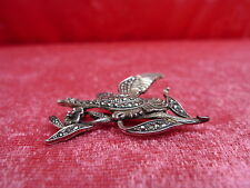 Beautiful, Antique Brooch__Auerhahn__925 Silver__with Marcasite