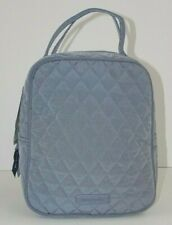 NWT Vera Bradley Lunch Bunch CARBON GRAY Quilted Microfiber School Sack Bag