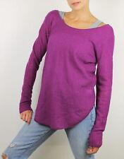 Helmut Lang Womens Sheer Scalloped Wool Sweater Raspberry M New