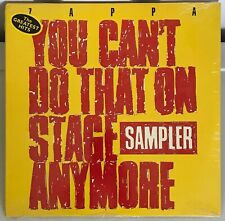 Frank Zappa You Can't Do That On Stage Anymore Sampler Vinyl Record NEW SEALED