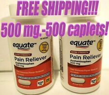FREE SHIPPING EXTRA STRENGTH ACETAMINOPHEN 'TYLENOL' PAIN 500 MG 500 CAPLETS
