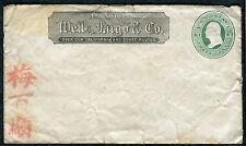 Cover - Wells Fargo - Unused and Unaddressed Asian Symbols 1870s - U82