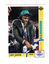 1991 UPPER DECK ROOKIE CARD # 2 LARRY JOHNSON FORWARD HORNETS