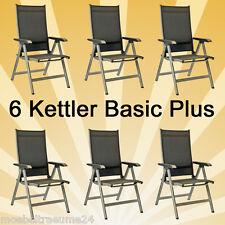 6 x Kettler Basic Plus Gartenmöbel Klappsessel Gartenstühle Sessel 0301201-0000