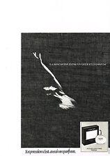PUBLICITE  1980   JACQUES  FATH   EXPRESSION  est aussi un parfum