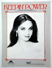 CRYSTAL GAYLE Sheet Music KEEPIN' POWER Columbia Pict. Big 3 Publ. 80's COUNTRY