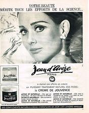 PUBLICITE ADVERTISING   1965   JEAN D'AVEZE   cosmétiques creme de Jouvence