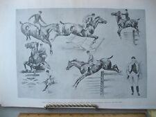 VIntage Print,HORSE SHOW,Remington,Harpers,c1890s,Horse