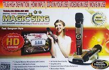 NEW Magic Sing  ET23KH Karaoke  5145 Tagalog/ English  Songs+ 2 Wireless MICS