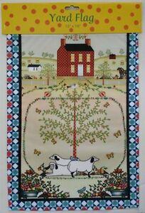 Mini Garden Flag Salt Box House Sheep Primitive 12x18