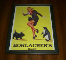 Horlacher'S Beer Framed Color Ad Print - Allentown, Pa.