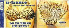N-TRANCE Feat ROD STEWART - DA YA THINK I'M SEXY ? - 4 TRACK CD SINGLE 1997 AATW