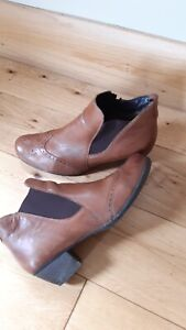 Ladies Remonte Brown Leather Boots UK 7 Eur 40