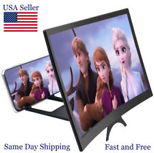 3D HD Curved Folding Cell Phone Video Screen Amplifier 12in  Magnifier Stand
