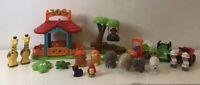 ELC Happyland Zoo Tree with monkey Swing Figures Animals Safari Truck Quad Train