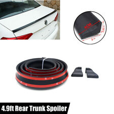 4.9ft Black Car Styling Rear Roof Trunk Flixable Spoiler Wing Lip Trim Sticker