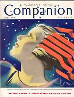 1937 Womans Home Companion July - Kathleen Norris; Rosalind Russell;Appalachian