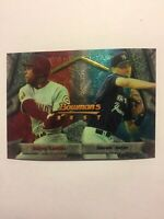 DEREK JETER 1994 BOWMANS BEST ROOKIE CARD 95 BARRY LARKIN NEW YORK YANKEES