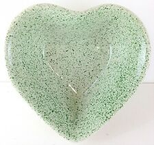 Stoneware Portugal Heart Shaped Green & Pink Speckled Heart Apple Baking Dish