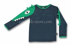 UBANG babblechat Langarmshirt Krokodil blau grün  Gr. 98 104 110 116 122 128