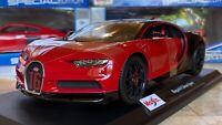 Bugatti Chiron Sport Red Maisto 1:18 Scale Diecast Model Car SPECIAL EDITION NIB