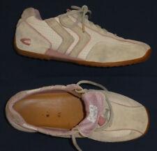 camel active !! Damen Leder- Sneaker Turnschuhe Gr. 38 (37) // beige mit rosa