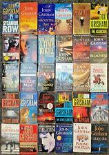 JOHN GRISHAM HUGE BOOK LOT OF 30 PAPERBACK NOVELS THRILLER LEGAL FREE SHIPPING!