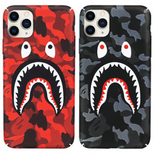 A Bathing Ape Bape ABC Camo Shark Case For iPhone 11 Pro Max XR XS X 8 7 SE 2nd