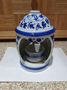 Blue Ceramic Candle Holder/Decor/Tealight