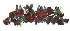 "Burgundy Swag 30"" Silk Wedding Flowers Roses Hydrangea Arch Chuppah Centerpieces"