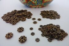 200 pce Antique Bronze Daisy Spacer Beads Size Mix 4mm / 6mm / 8mm