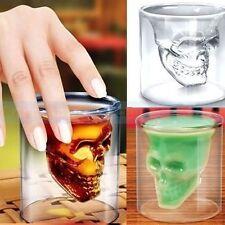 1 x Skull Head Vodka Shot Whiskey Home Wine Beer Tea Glass Drinking Cup..