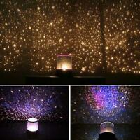 Romantic LED Projector Star Light Baby Night Nursery Lamp Xmas Gift For Child