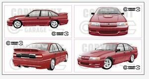 New! Collectable VN SS Group A Holden Commodore Large Sticka Set