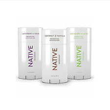 Women Classic Pack 3 Scents Native Deodorants Long Lasting Aluminium Free