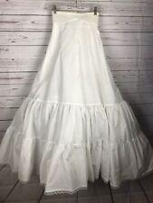 Davids Bridal Sz 4 Fit Flare Crinoline Wedding Formal White Slip Style 603