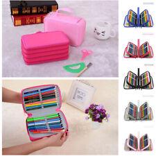 72 Slots Pencil Case Handy Large Capacity Oxford Multi-layer Makeup Brush Bag
