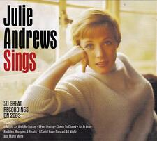 JULIE ANDREWS - SINGS - 50 GREAT RECORDINGS (NEW SEALED 2CD)
