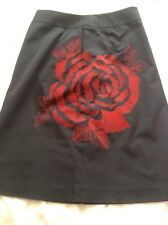 BNNT BESPOKE BLACK EMBELLISHED FULLY LINED A LINE SKIRT HOUSE OF FRAZER  UK 12