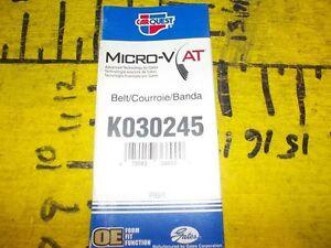 New 85-15 Chevrolet Nova Geo Prizm Carquest K030245 Micro-V AT Serpentine Belt