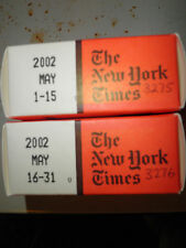 May 2002 New York Times on MICROFILM - 2 reels of film