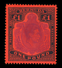 BERMUDA  1951 KGVI  £1 black & violet red   Scott# 128 mint MH VF