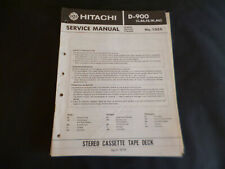Original Service Manual Schaltplan Hitachi D-900